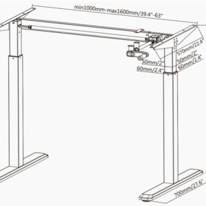 Manual Standing Desk [Crank Operated]