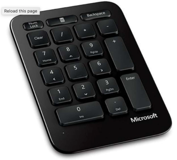Microsoft Sculpt Ergonomic Keyboard and Number Pad